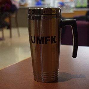 UMFK All Stainless Steel Mug with Handle