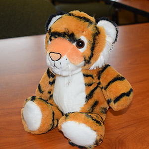Sitting Stuffed Plush Tiger